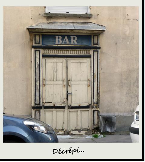 Bar décrépi