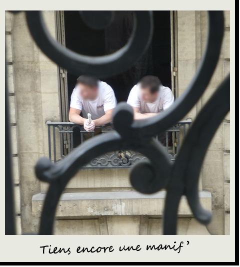 Trois concierges aux balcons