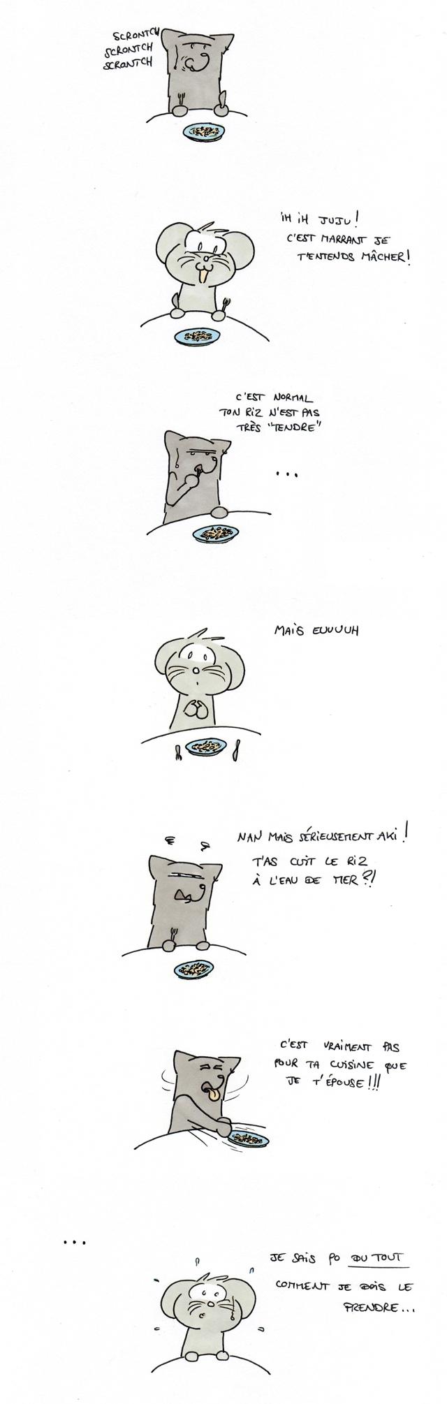 Riz pas tendre, riz pas tendre !