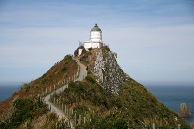 Vers le phare de Nugget Point