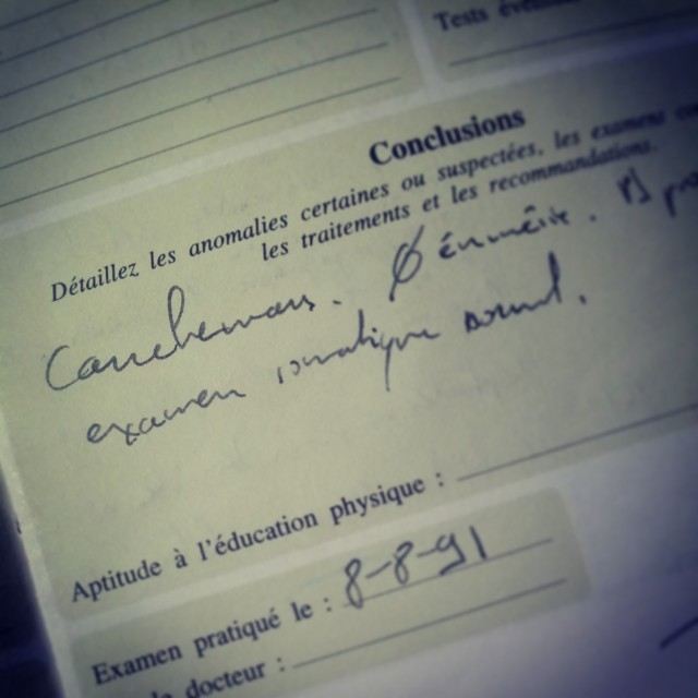 """Carnet de santé """"cauchemar"""""""