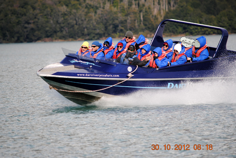 Jetboat sur la Dart River