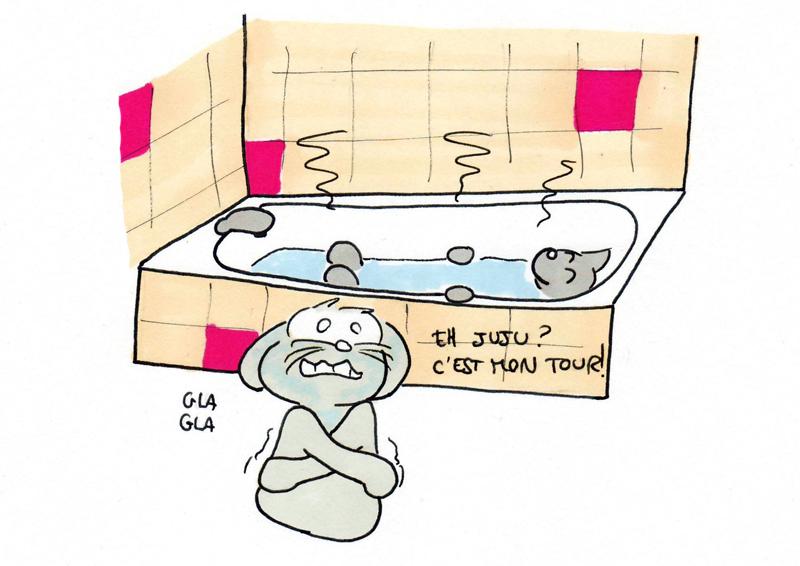 Savourer son bain...