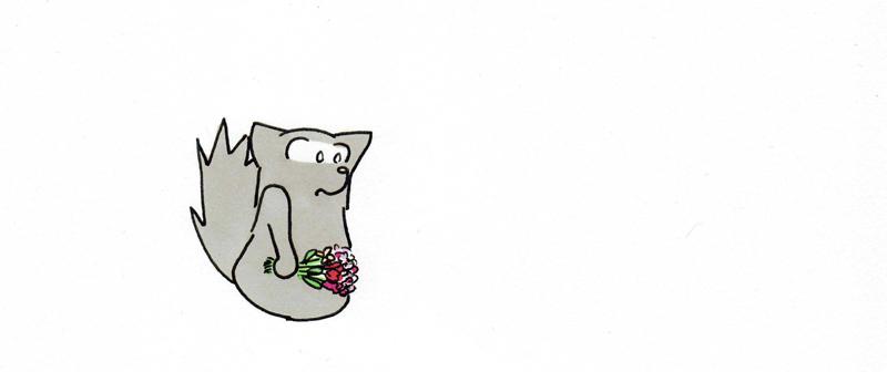 Petit Chti et ses fleurs pour la maîtresse