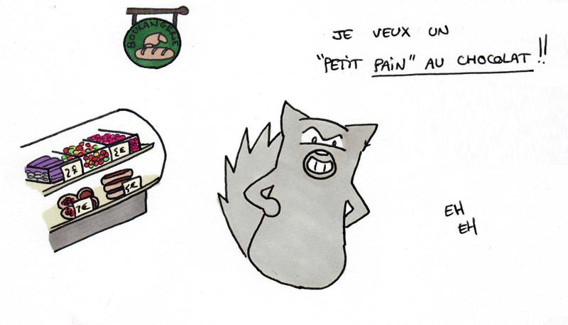 """Un """"petit pain au chocolat"""" pardis !"""