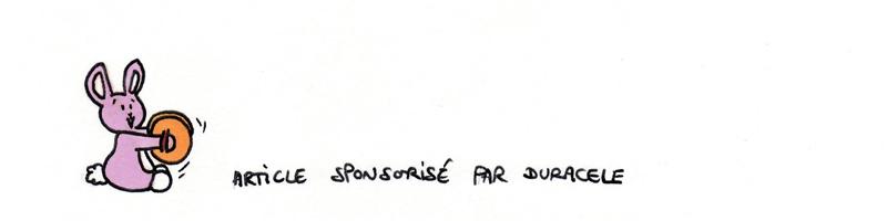 Sponso by Duracele et son lapin