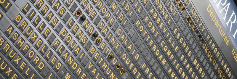 Affichage Gare du Nord