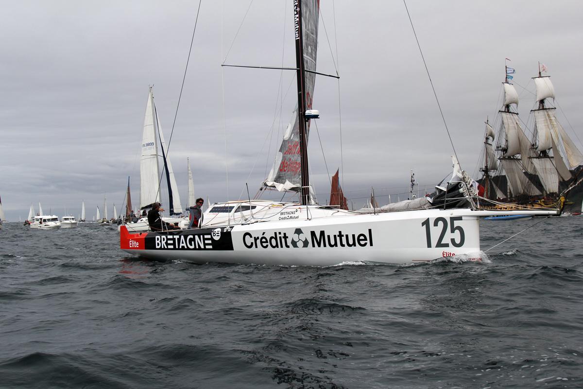 Class40 Bretagne – Crédit Mutuel Élite (mise en service 2013) barré par son skipper Nicolas Troussel