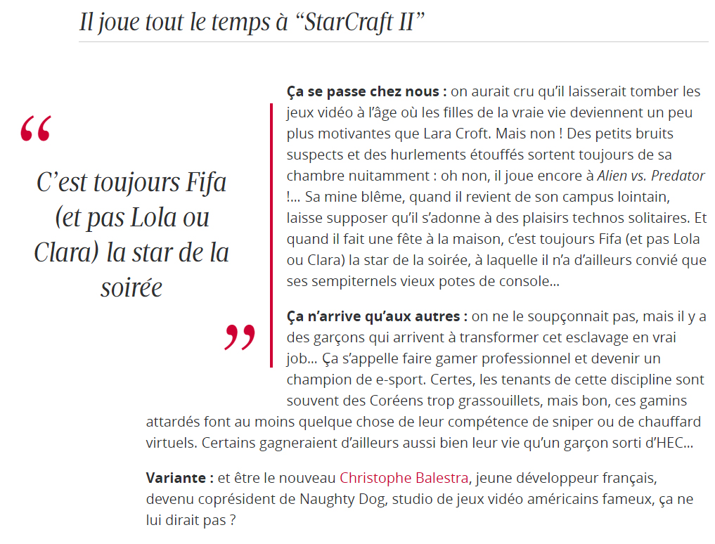 Figaro Madame vs gameurs