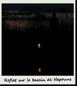 Reflet du soir sur le bassin de Neptune